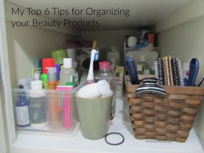 Top 6 Tips to Organizing your Beauty Products