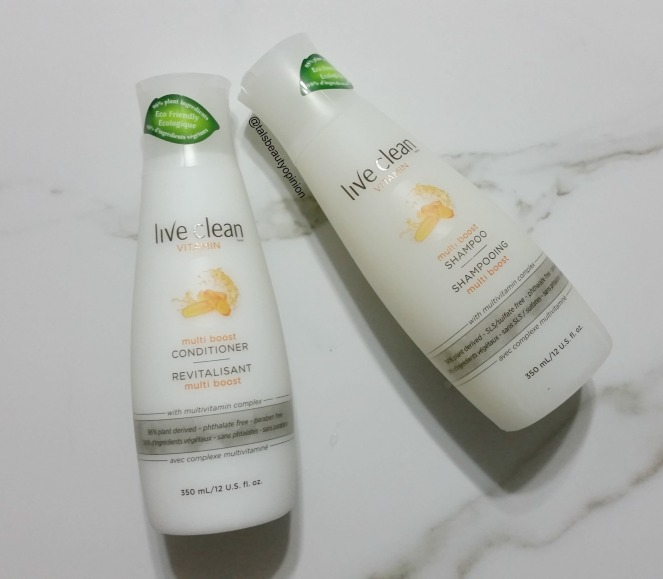 Live Clean Vitamin Multi Boost Shampoo and Conditioner Review
